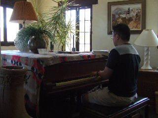 Catalina - Gary at Zane Grey's piano